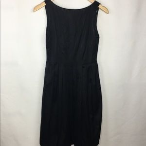 Maggy London Little Black Dress Pleated Bubble Hem